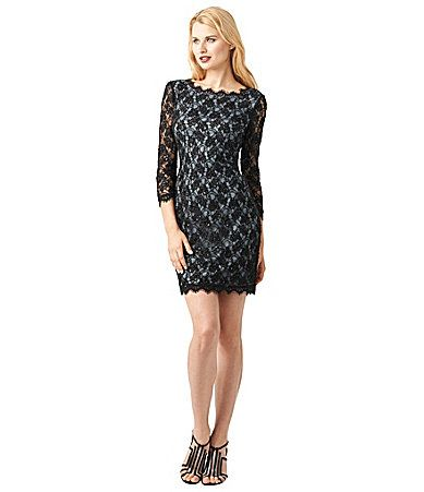 Adrianna Papell Woman Sequinlace Dress Dillards My Plus Size