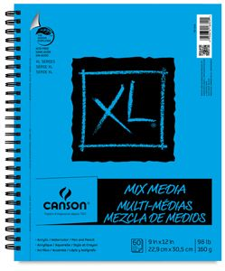 Acid Free Canson Artist Series Sketch Book Paper Pad 65 Pound 80 Sheets Wire Bound for Pencil and Charcoal 9 x 12 Inch