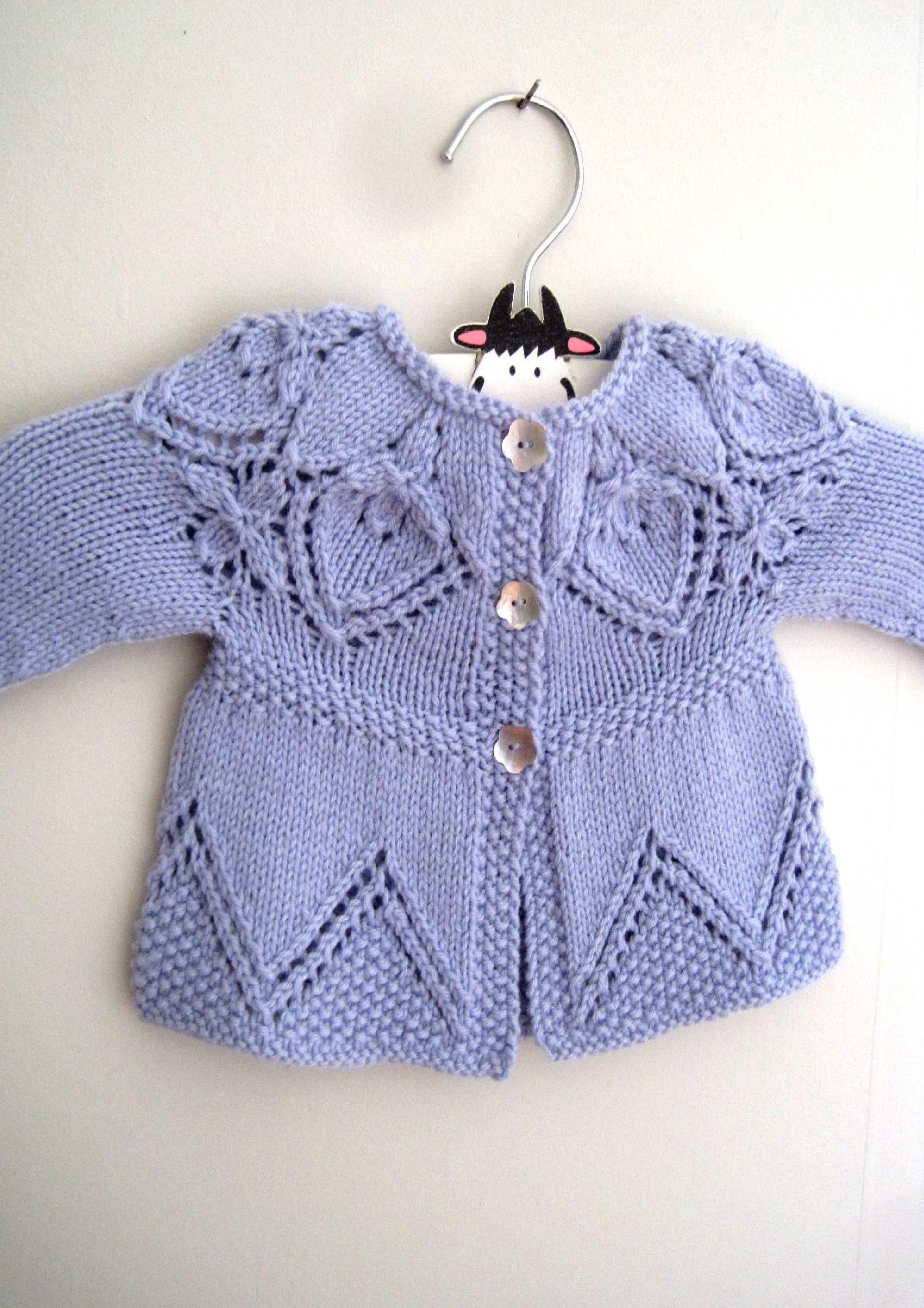 Cora Cardi Knitting Pattern by Suzie Sparkles. Baby cardigan ...