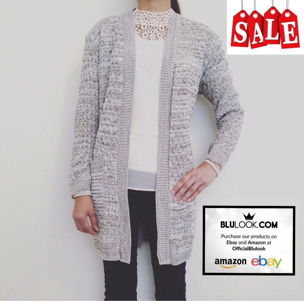 New Knitted Waterfall Cardigan with Pockets - Womenswear ...