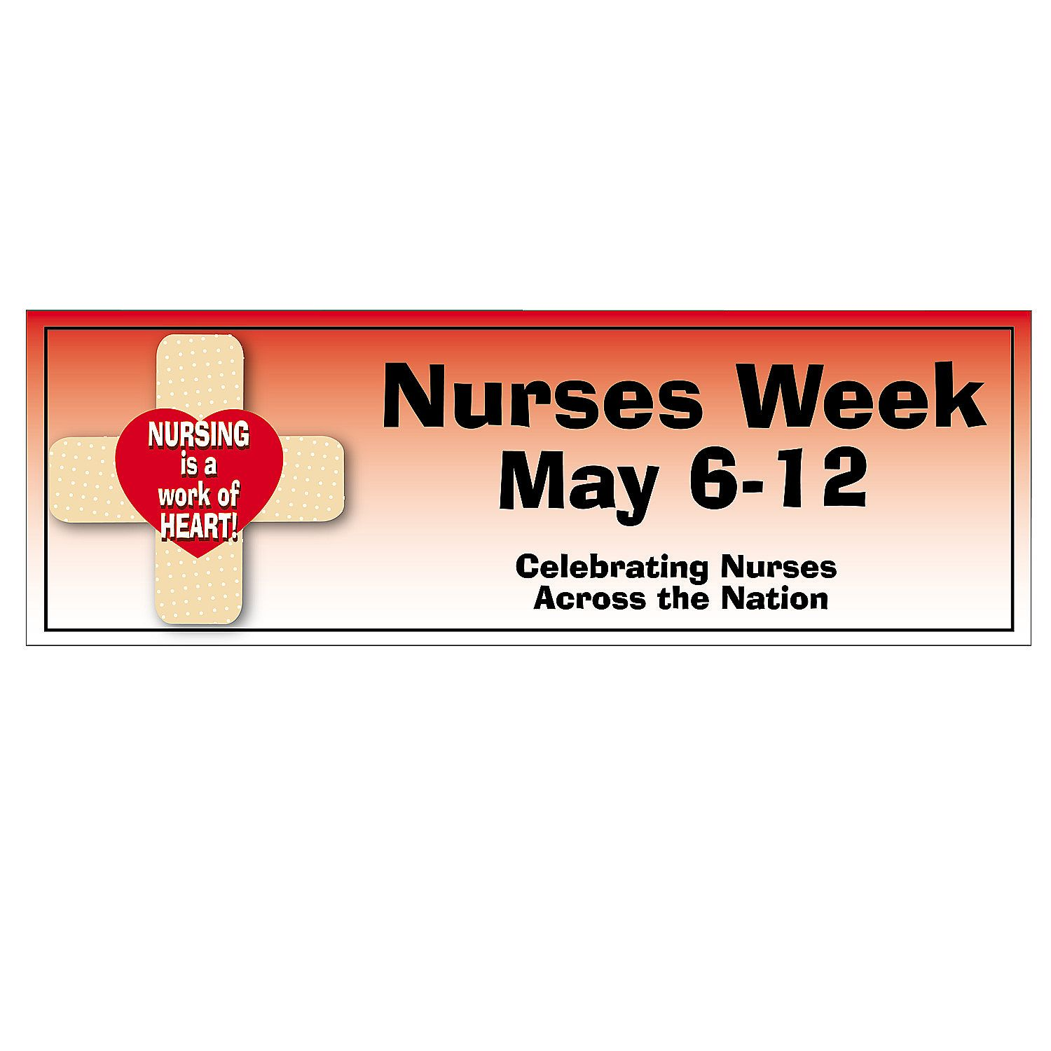 Personalized Small Nurses Week Banner OrientalTrading
