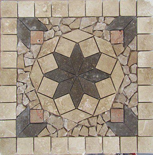 Stone Tile Indoor Or Outdoor 18 Floor Wall Art Medallion Mosaic Deals Http