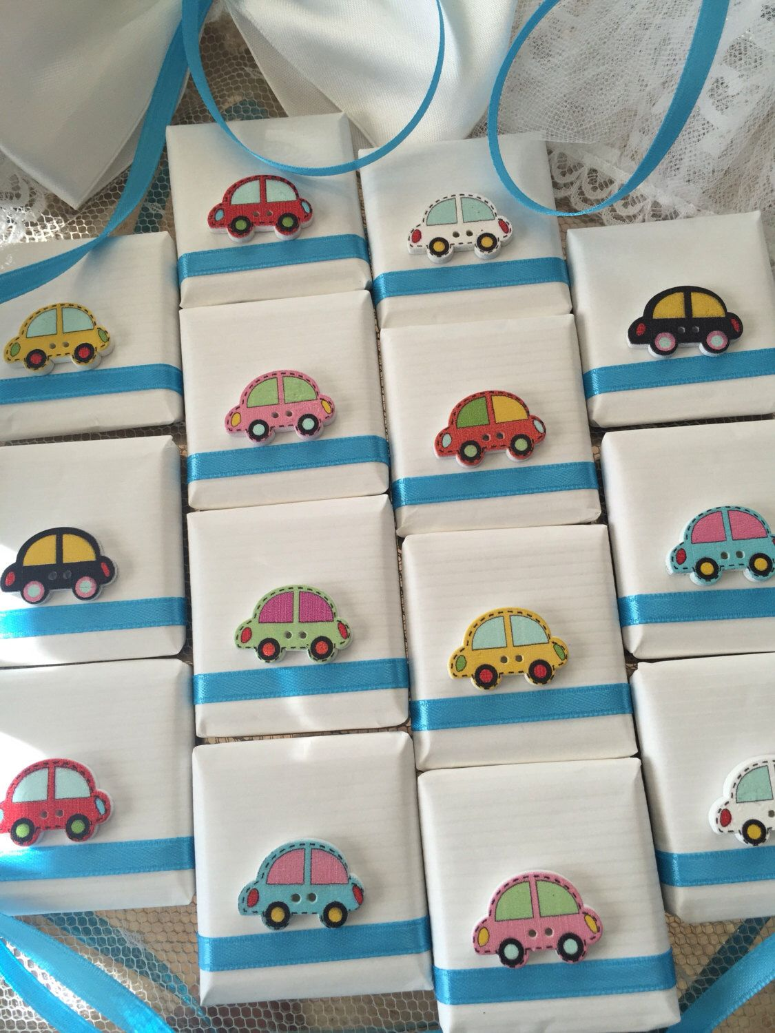 10 Baby Shower Favors Baby Boy Baby Girl Cars Favors Decorated