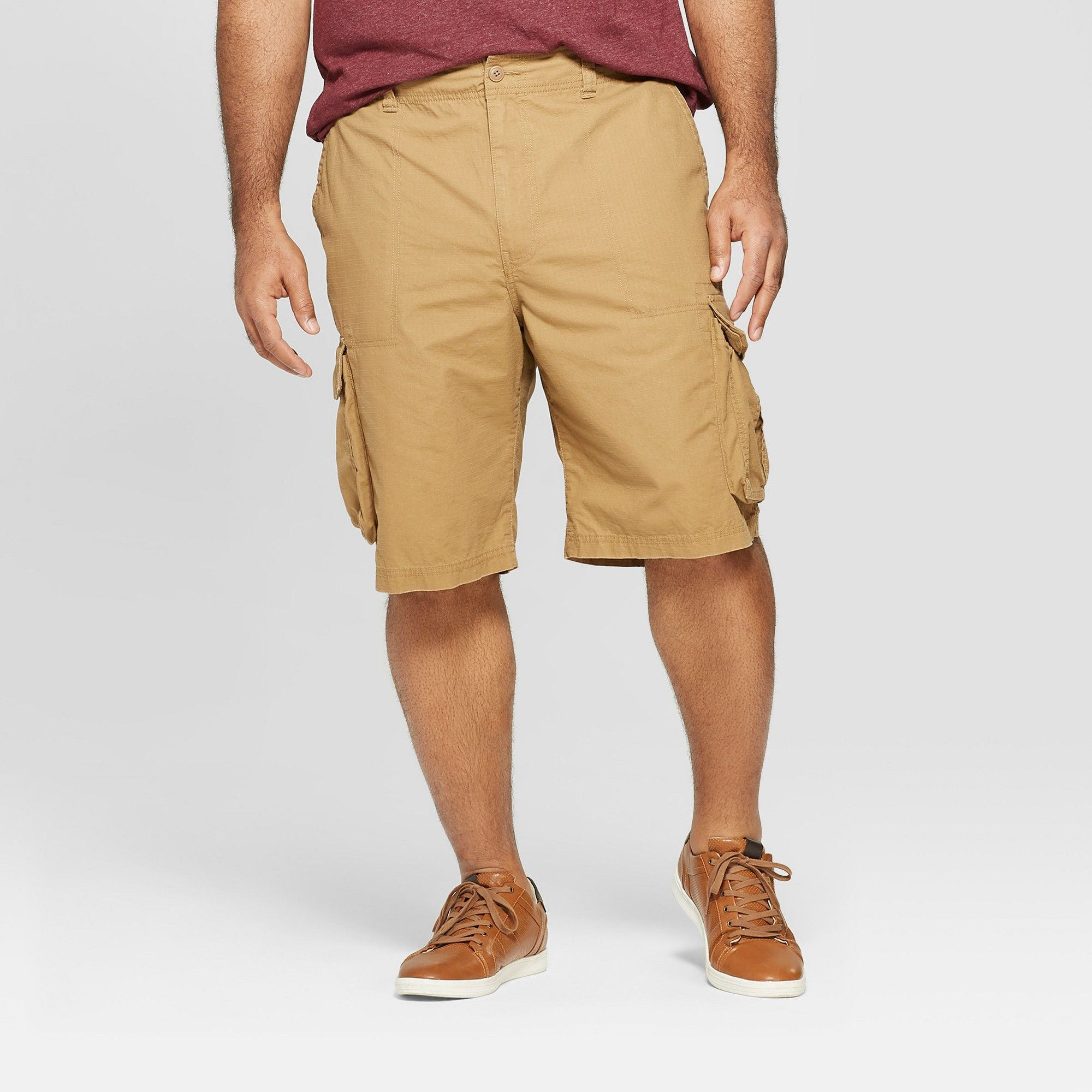 9e731968e0 Men's Big & Tall 11 Cargo Shorts - Goodfellow & Co Brown 48, Dapper Brown