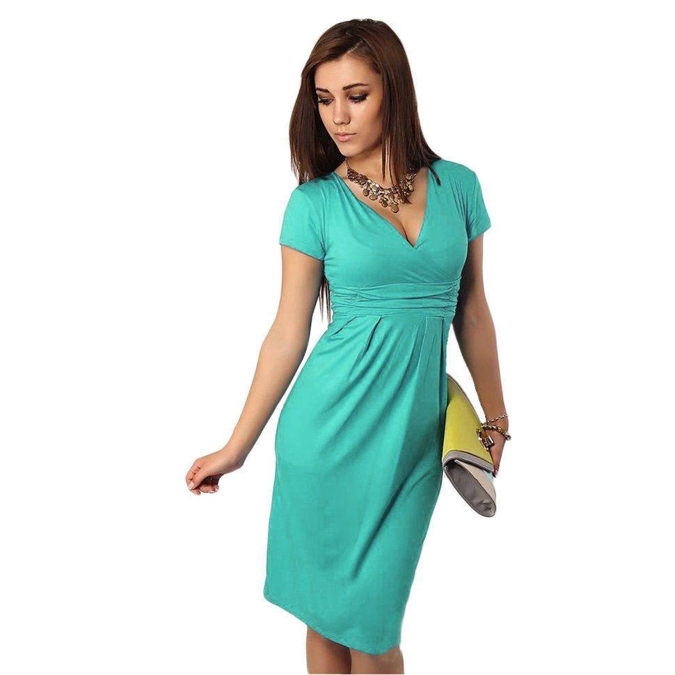 c3f0be2d55471 Candy Colors Slim Pregnant Women Summer Maternity Dress V Neck Short Sleeve  SM
