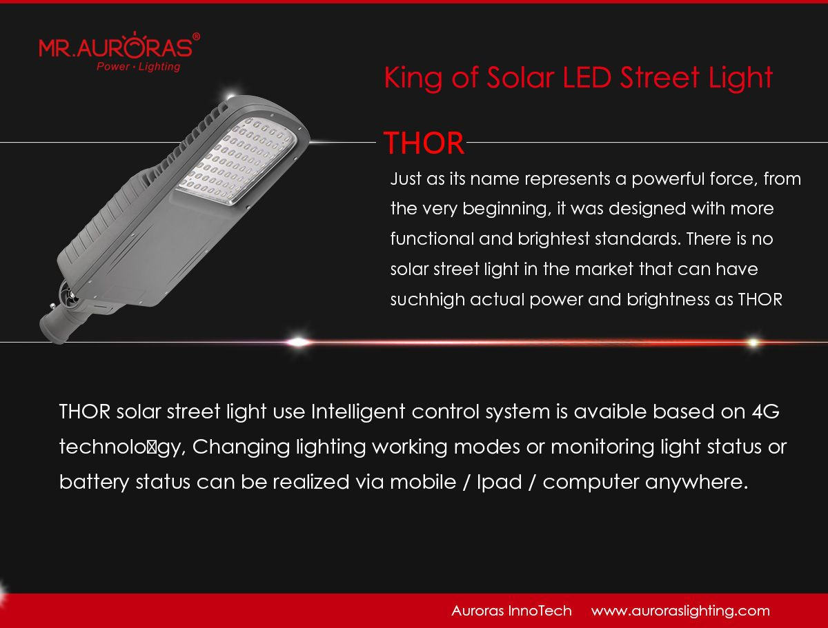 Thor King Of Solar Street Light Street Light Solar Led Solar Street Light