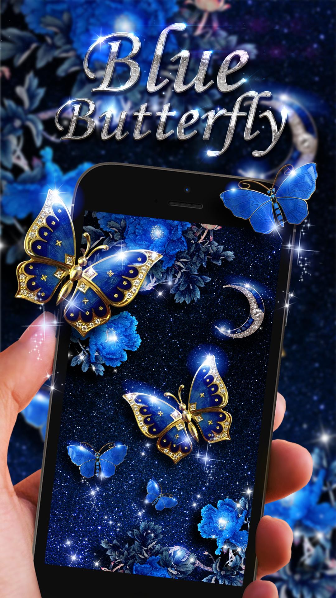 Blue butterfly live wallpaper!   Butterfly wallpaper, Live ...