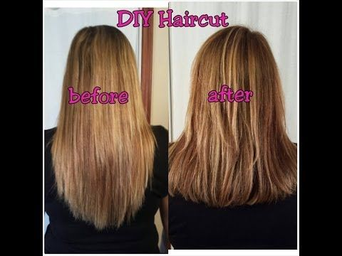 Easy How To Cut Your Own Hair In Layers Youtube A Little More