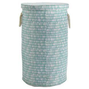 Buy Habitat Firth Printed Canvas Laundry Bag Blue At Argos Co Uk