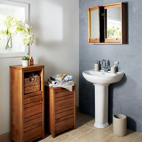 John Lewis Cayman Single Bathroom Floor Unit | Bathroom ...