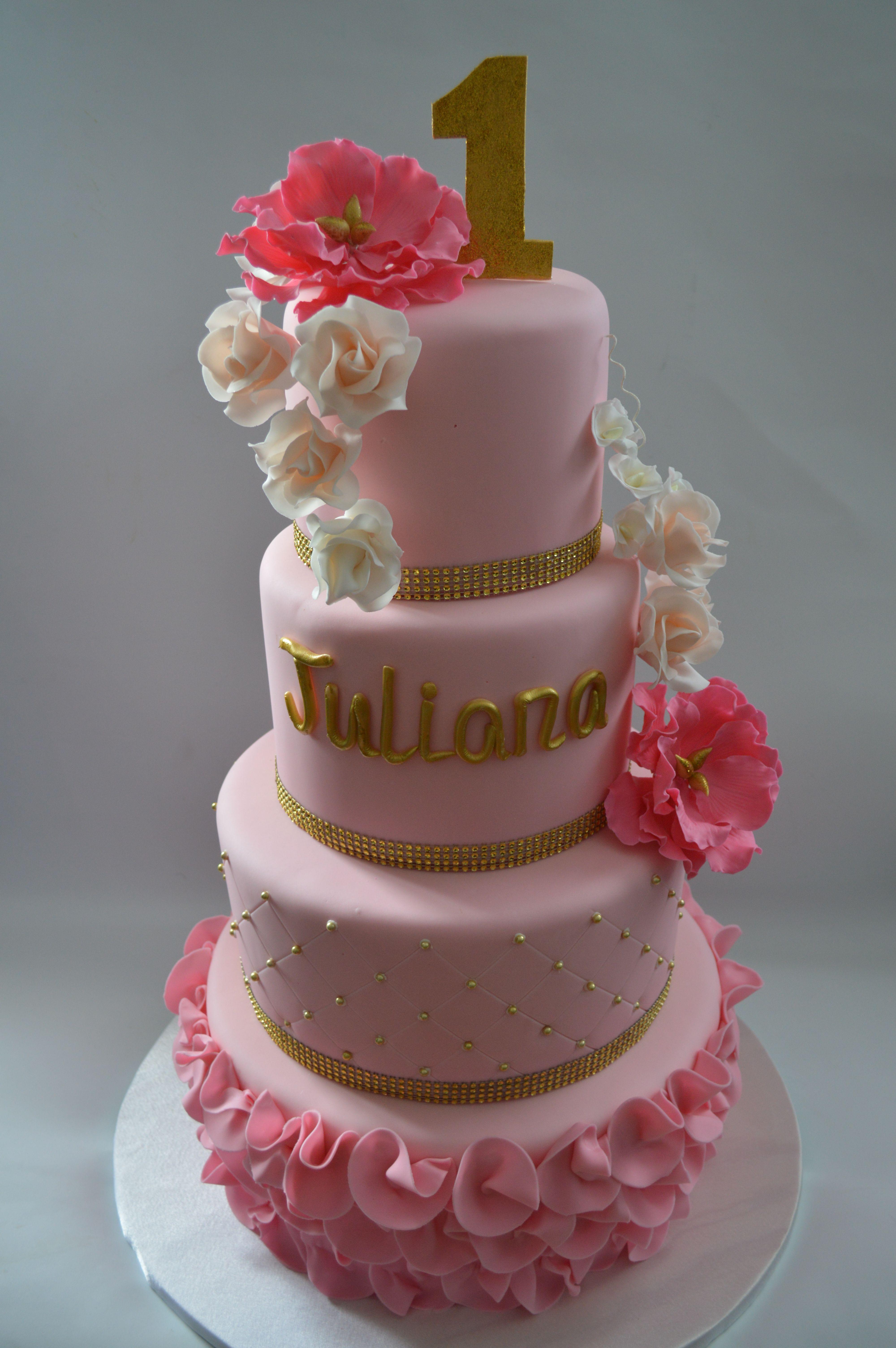 St Birthday Cake Girl My Work Pinterest Cake Girls - 1st girl birthday cake