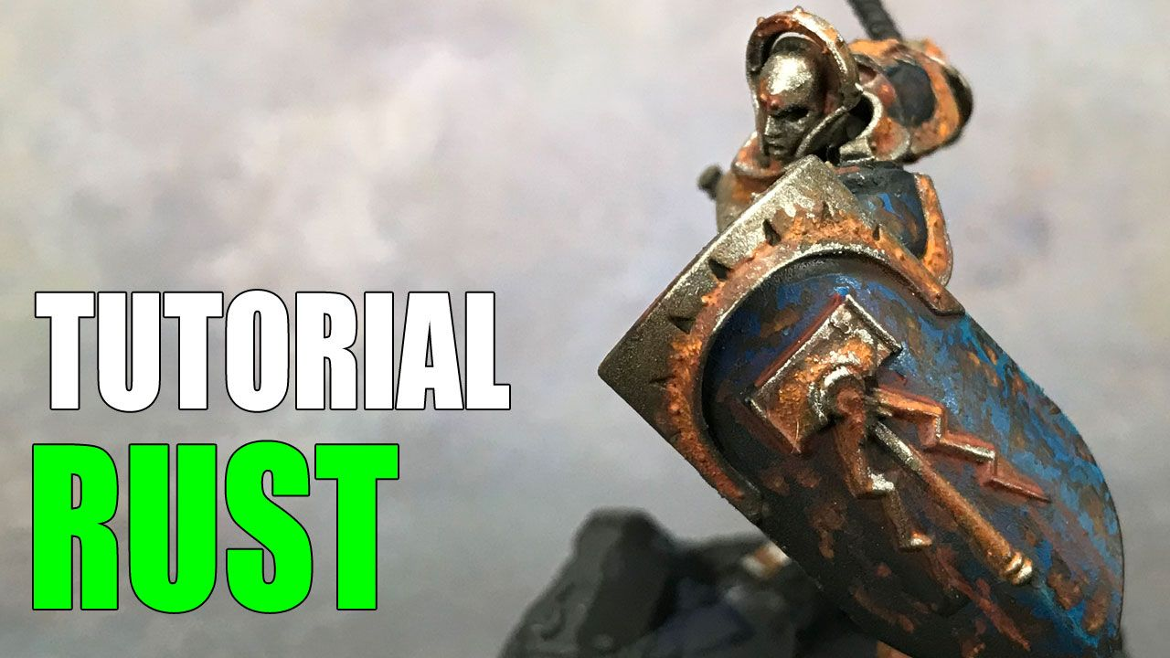 The Easy Way To Paint Rust On Miniatures How To Miniature Painting Miniatures Air Brush Painting