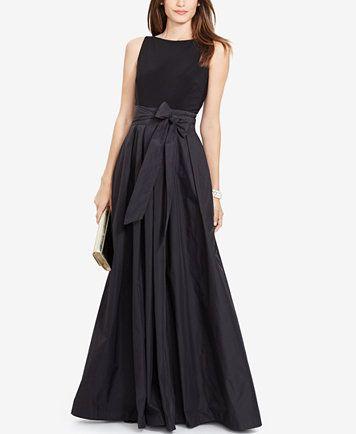 Lauren Ralph Lauren Jersey Combo Gown   macys.com for Mardi Gras!