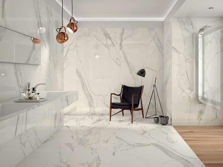 Piastrelle bagno moderno piastrelle effetto marmo ceramiche caesar