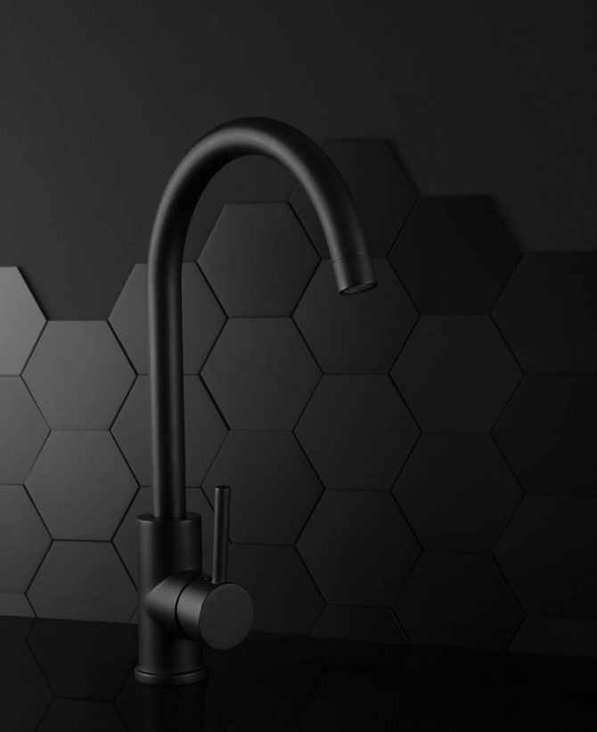 Tinkisso Contemporary Kitchen Taps, Gold or Black Kitchen Mixer Tap #cantaps