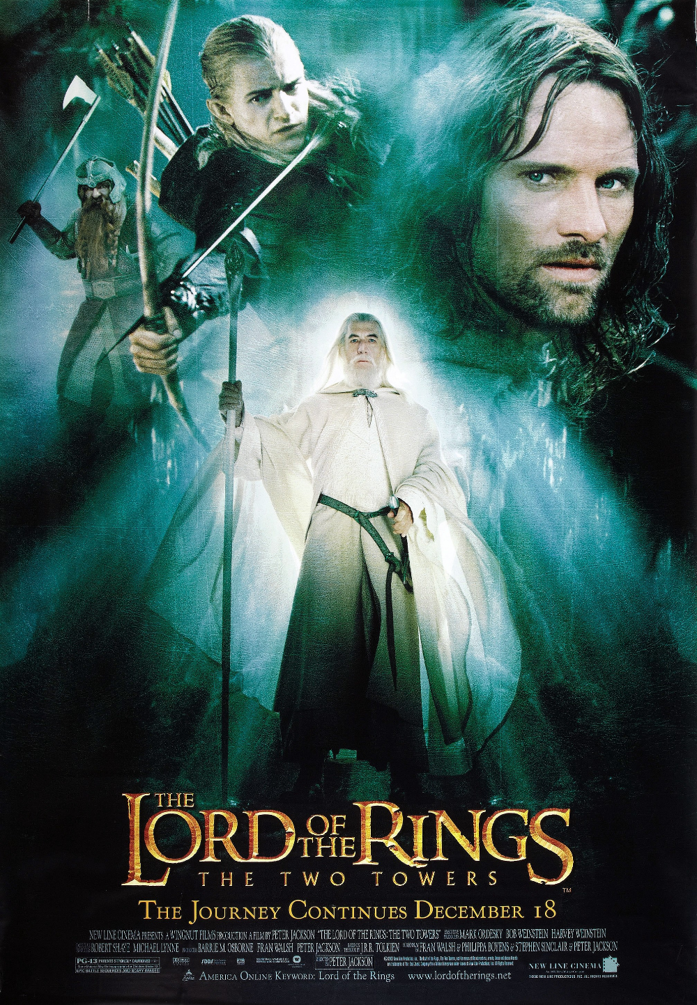 The Lord Of The Rings The Two Towers Poster 35 Full Size Poster Image Goldposter In 2021 Lord Of The Rings The Two Towers Good Movies