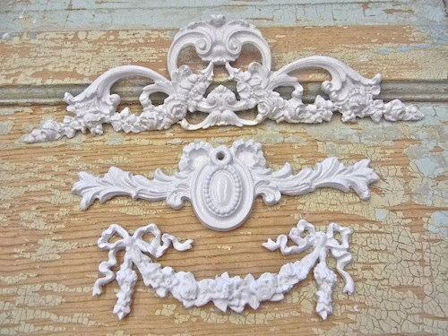 Shabby Chic Rose U0026 Floral Furniture Applique Lot By Diychicgirl, $20.95