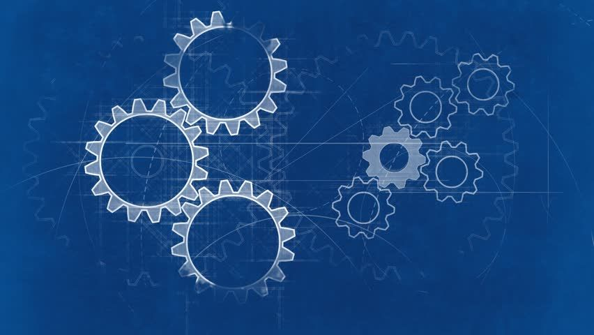 Blueprint with spinning gears technical background blueprint with spinning gears technical background 6492254 malvernweather Image collections