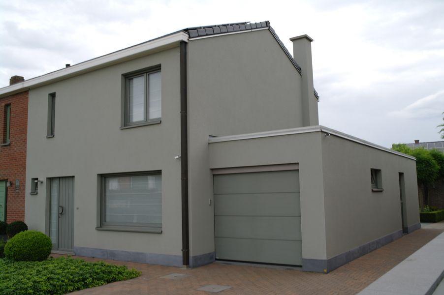 Gevel bepleistering huis buitenkant pinterest gevel stijl inspiratie en gevelbekleding for Moderne stijl gevel