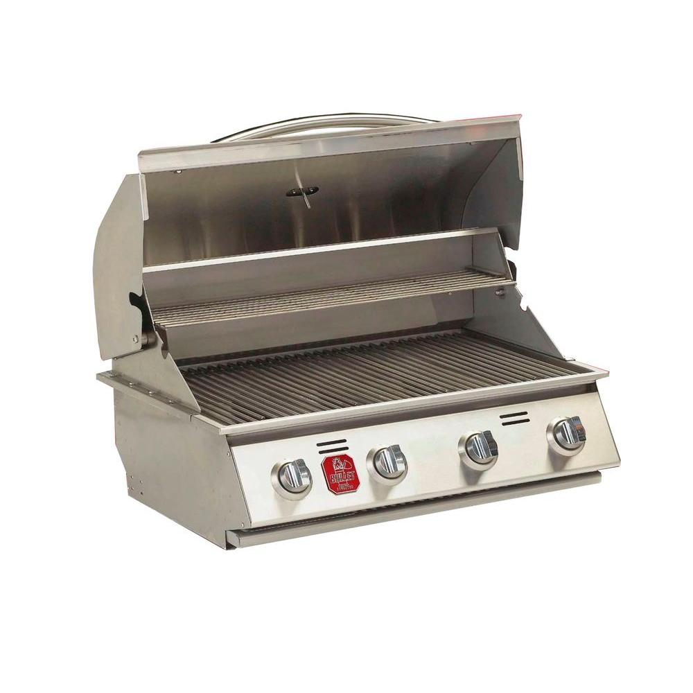 Bullet 4 Burner Built In Natural Gas Grill In Stainless Steel 98111 Grilling Built In Grill Propane Gas Grill