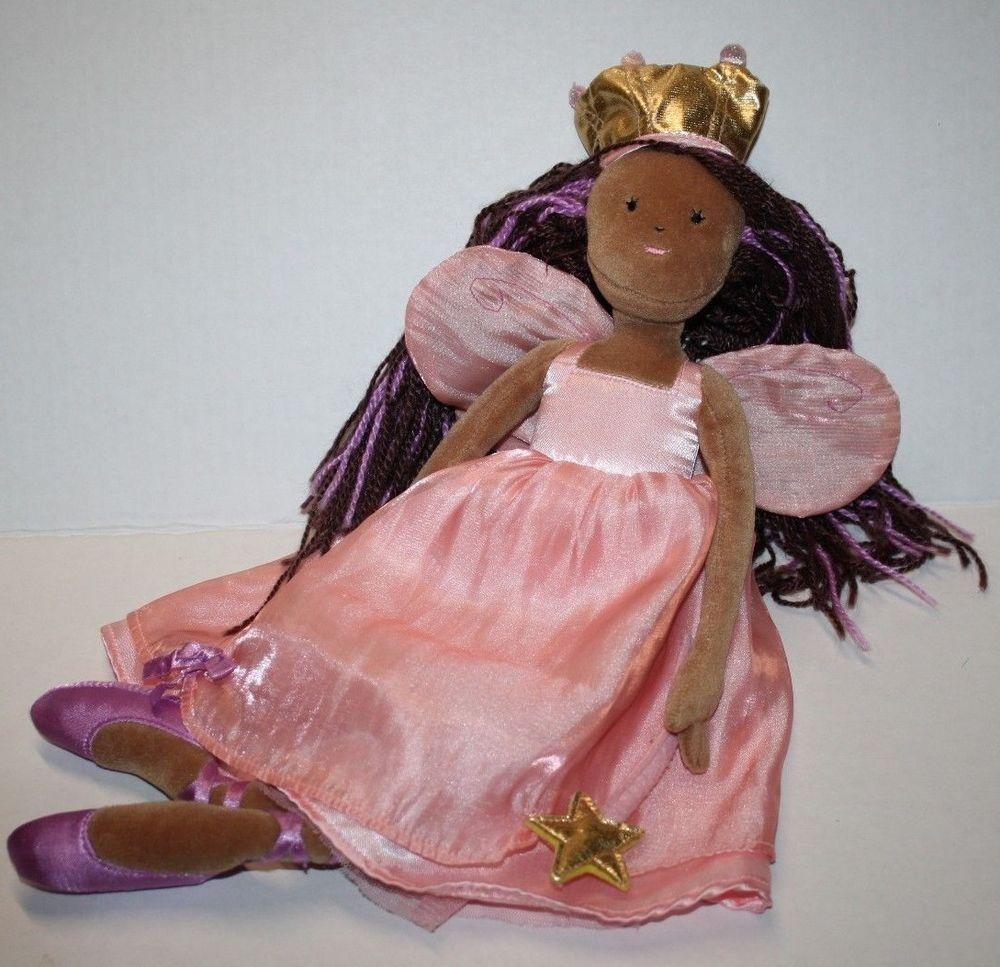 Target Play Wonder Peach Purple Fairy PRINCESS Stuffed Rag