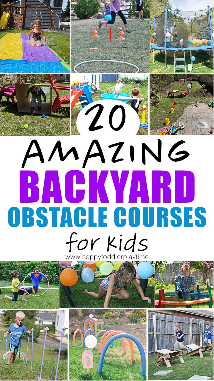 20 Amazing Backyard Obstacle Courses Happy Toddler Playtime Kids Obstacle Course Backyard Obstacle Course Summer Activities Backyard diy obstacle course