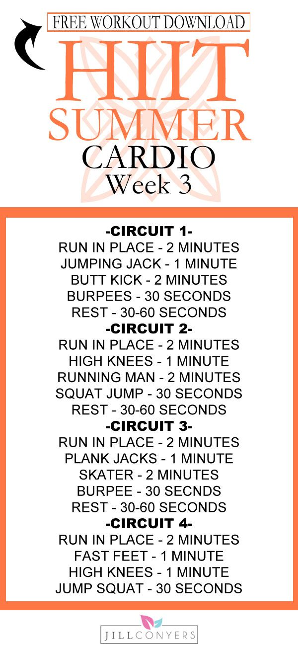 HIIT Summer Workout Series Week 3 With Free Downloads - Jill Conyers