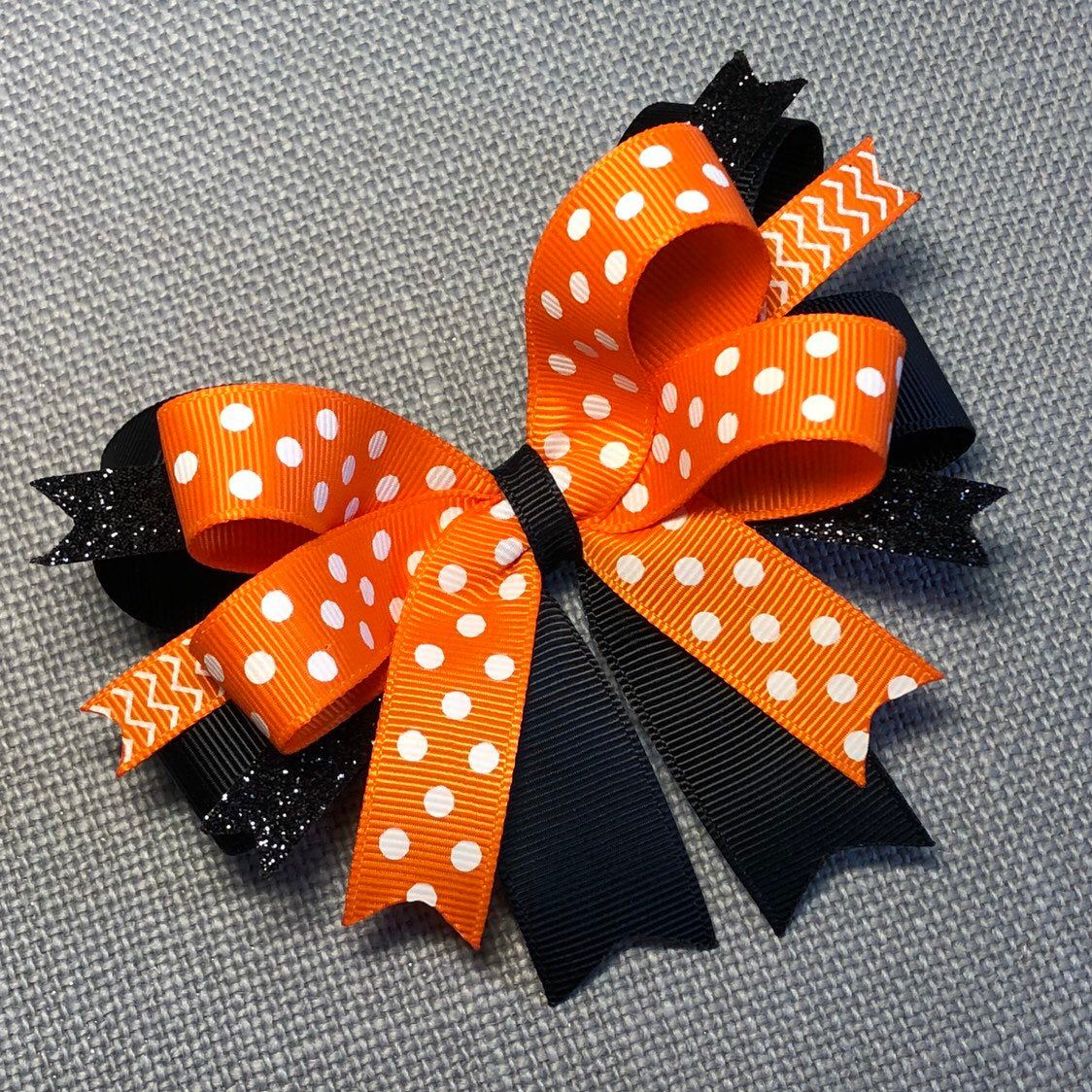 Brown Red Orange Black Halloween Thanksgiving Fall Polka Dot Bow Headband