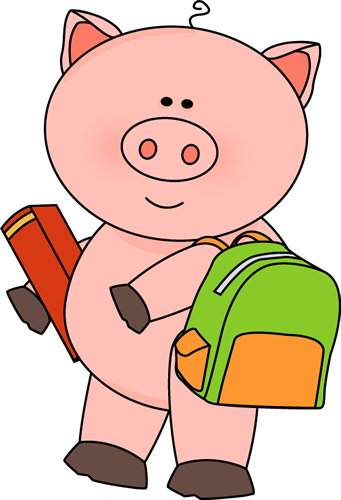 Pig Going To School Clip Art Pig Going To School Image Pig Animal Clipart Clip Art