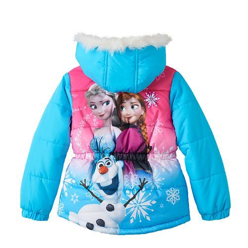 24f541a68107 Disney's Frozen Elsa, Anna & Olaf Hooded Puffer Jacket - Girls 4-6x