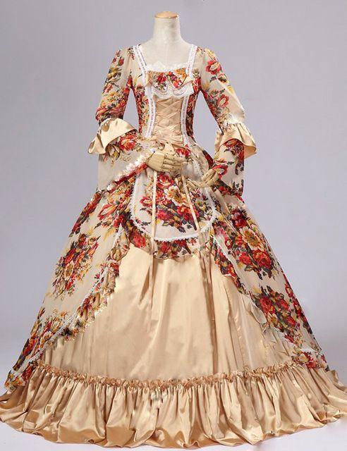 Top Sale 18th Century Rococo Georgian Fashion Marie Antoinette Victorian Dress Jacquard Renaissance Vict Victorian Ball Gowns Rococo Dress Historical Dresses
