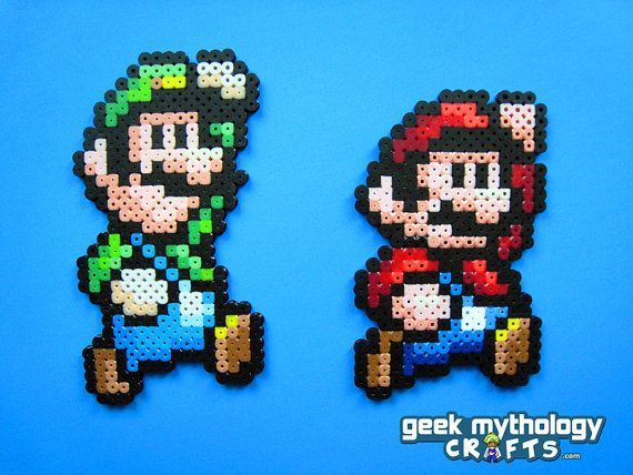 Gallery For Super Mario Bros 3 Luigi Pixel Art Perler Bead