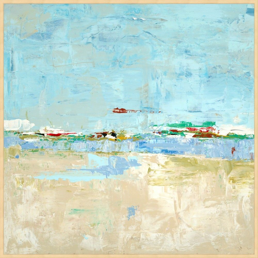 Seaside Sands Framed Wall Art   Abstracto, Cuadro y Marcos cuadros