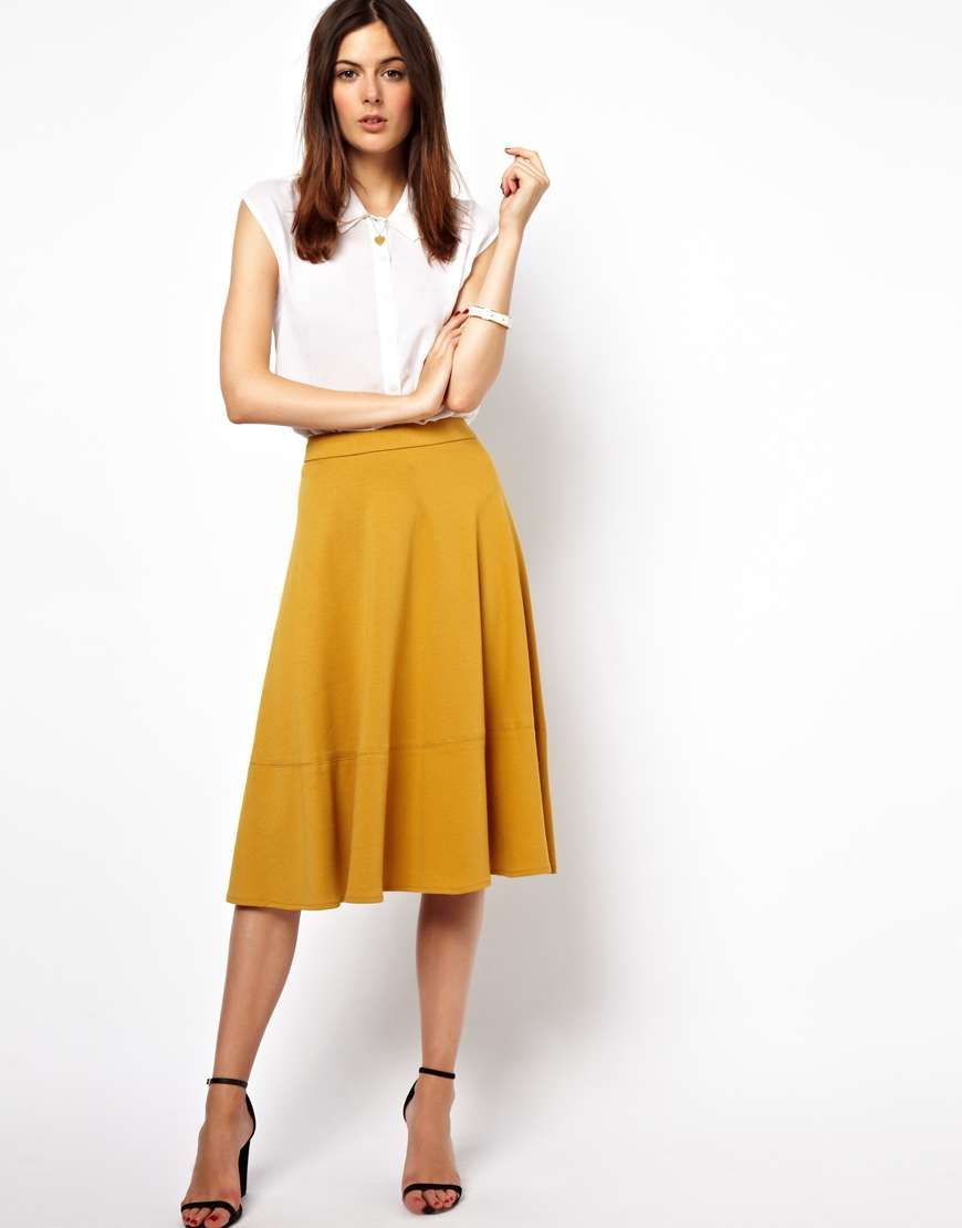Bright pink dress for wedding guest  ASOS Midi Skirt in Ponte Shop wantering  Working Girl