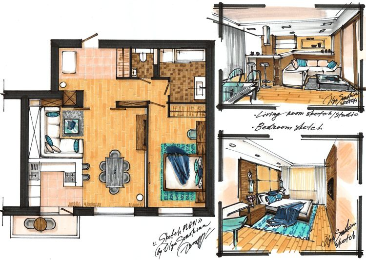 Art Interior Interior Design School Interior Design Renderings Plan Sketch