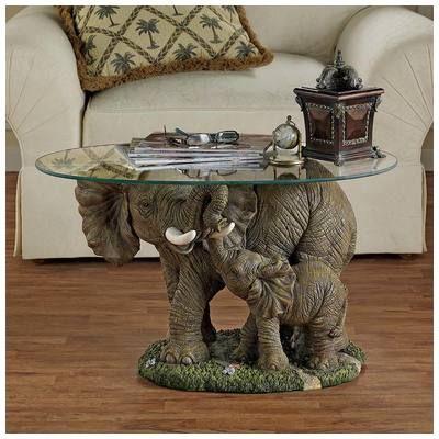 Toscano Eu30543 Accent Tables Toscano Eu30543 Elephants Majesty Cocktail Table Elephant Home Decor Elephant Table Elephant Decor