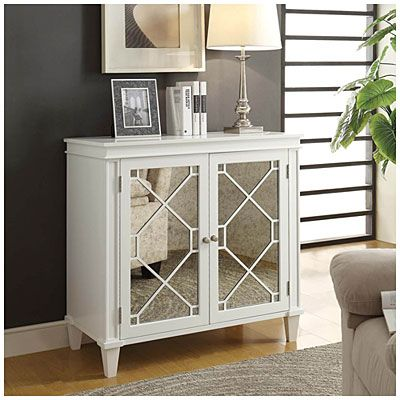 219 00 On This Week At Big Lots White Diamond Mirror Two Door Chest