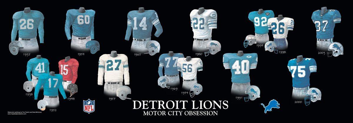 Detroit Lions Lions Nfl Uniforms
