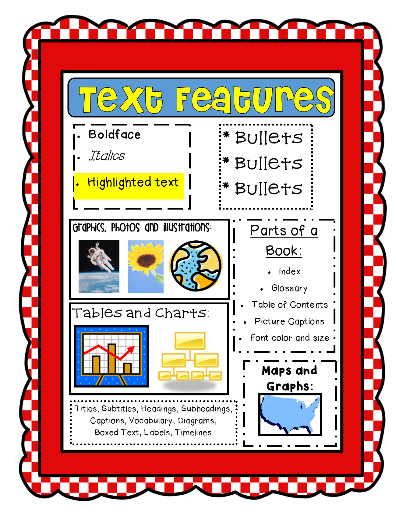 hight resolution of Text Features Freebie! CCSS!!   Text features