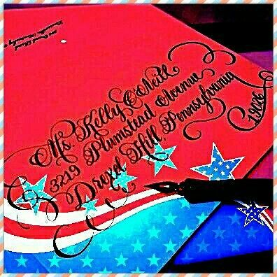 4th of July Wedding/Party Calligraphy 🍭🎉❤💙✒ #calligraphybyjennifer #wedding #calligraphy #weddingcalligraphy #party #partyideas #4thofjuly #4thofjulyweekend #4thofjulyparty #redwhiteandblue #becreative #lettering #fancy #lettering #instaw#instagood #insta4fun #insta4thofjuly #nationwidecalligraphy #nationwidecalligrapher #calligraphybyjennifer