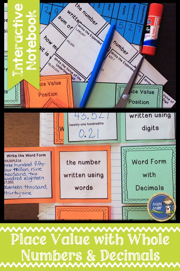Whole numbers and decimals place value interactive notebook nvjuhfo Gallery