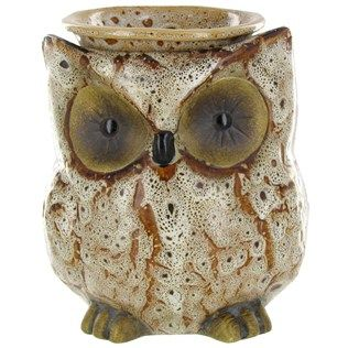 Spotted Owl Scentsationals Ceramic Fragrance Hearth Wax Warmer