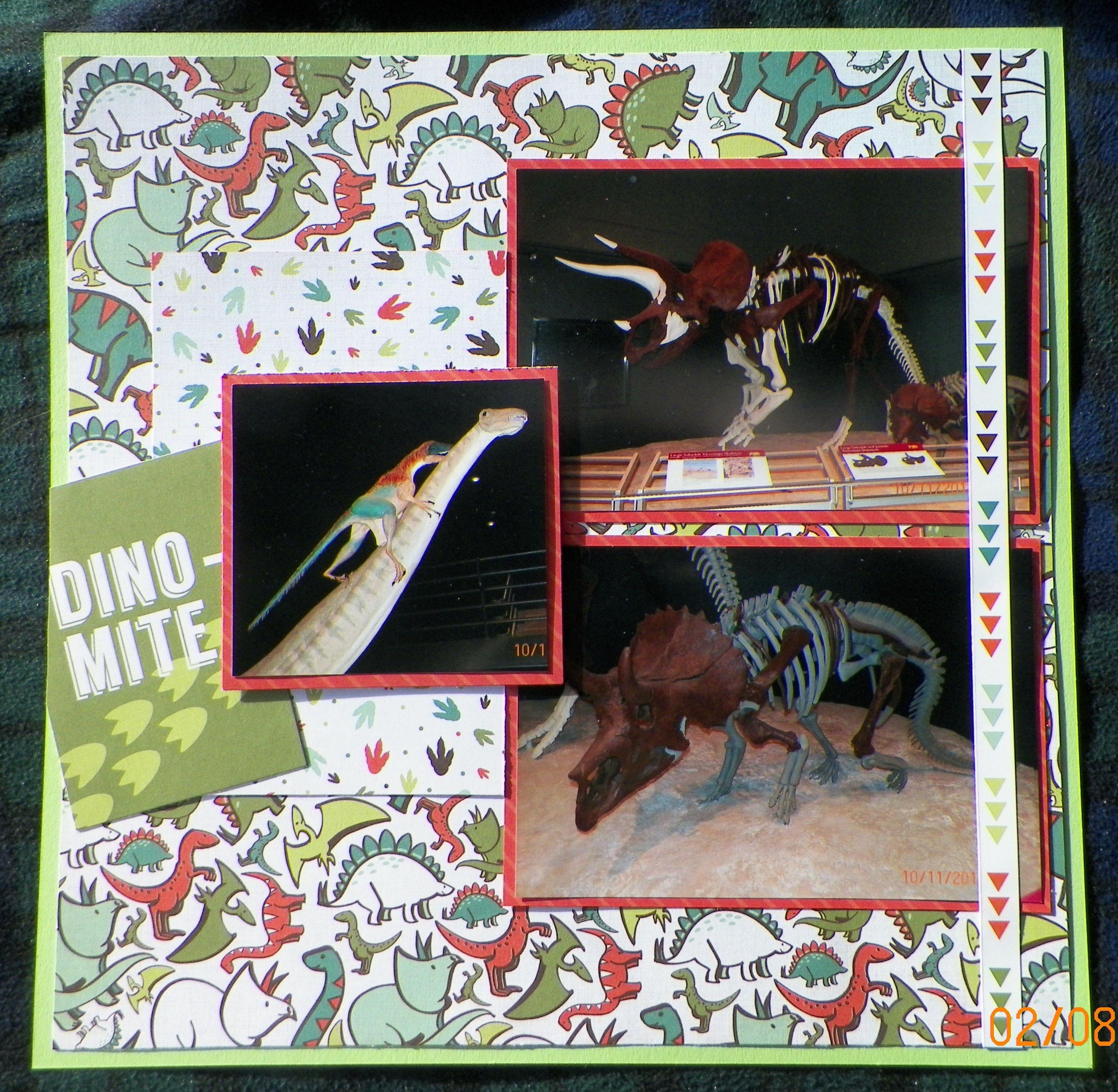Scrapbook ideas adventure - Handmade Scrapbook Layout Echo Park Dinosaur Adventure Museum Of The Rockies Dinosaurs