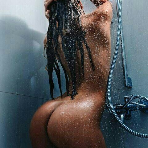 Girls shower under black Sexy