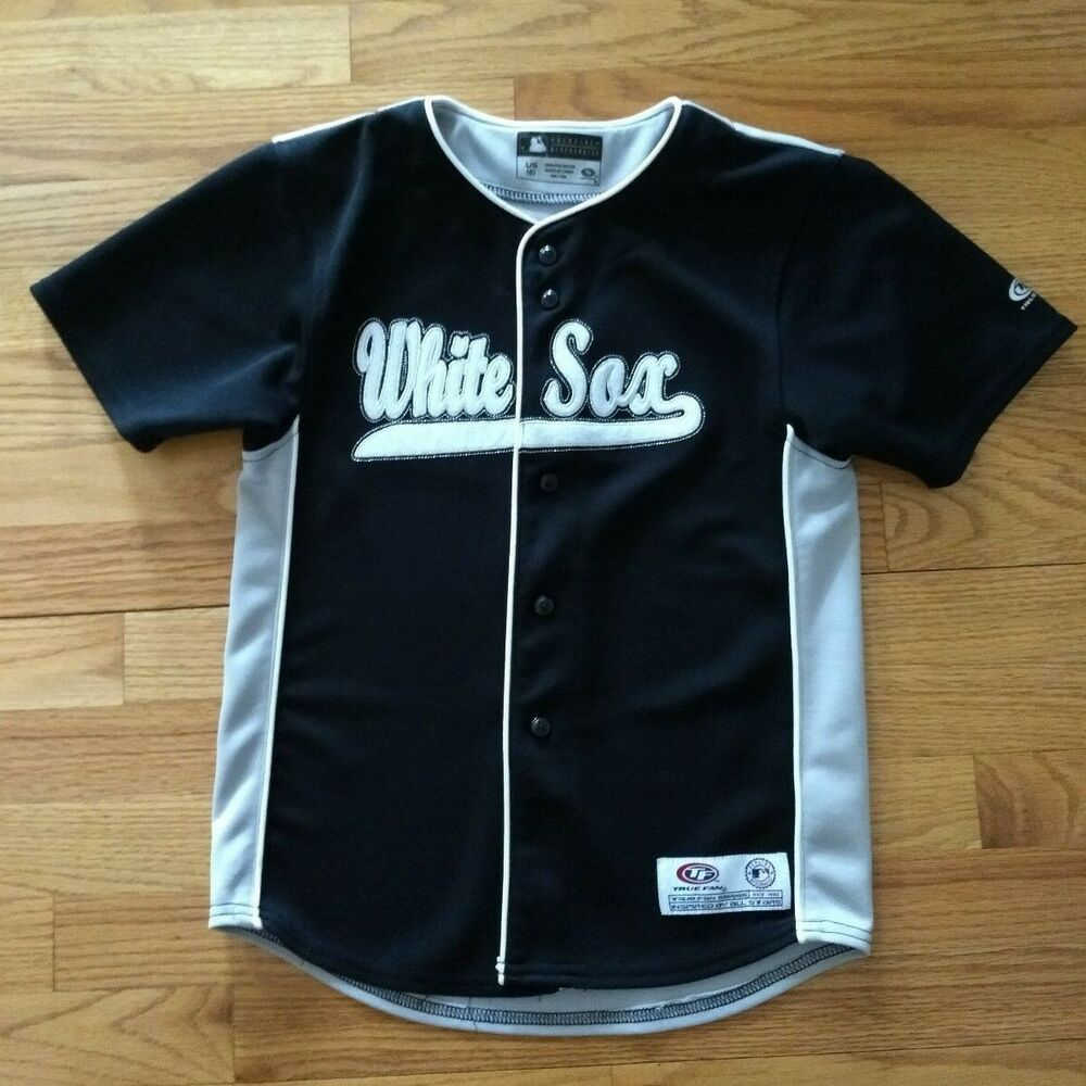 e56fb611b MLB Chicago White Sox Kids Large (6) Button Down Stitched Blank Jersey   TrueFan  ChicagoWhiteSox