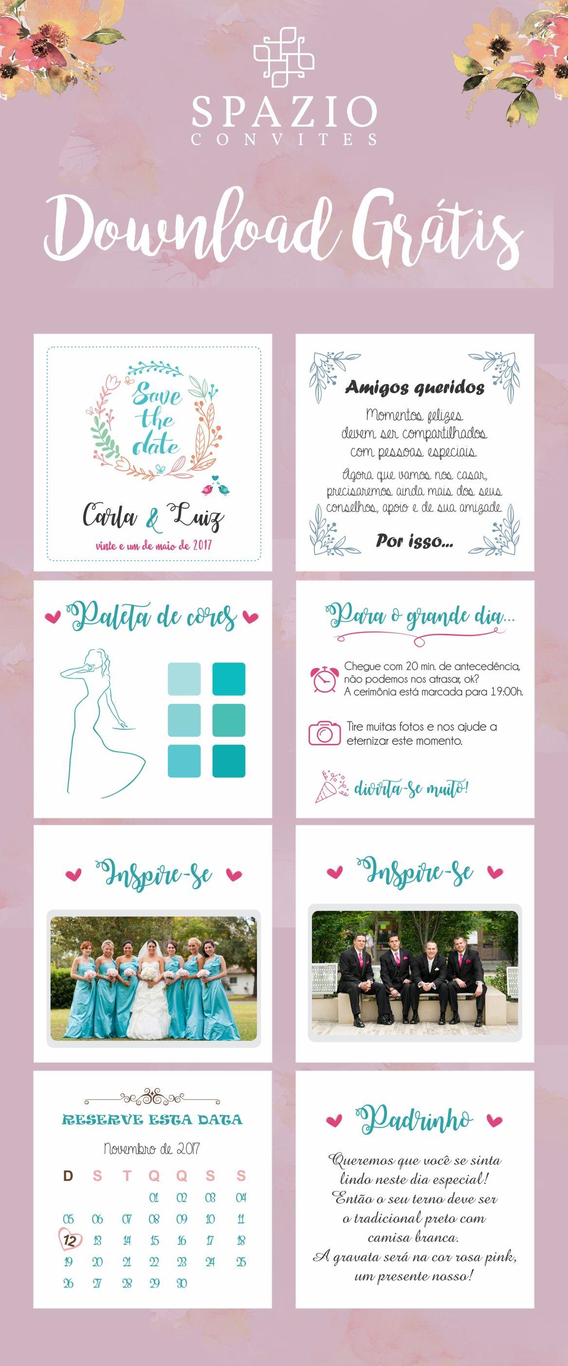Manual Dos Padrinhos Para Download Convite Padrinhos Casamento
