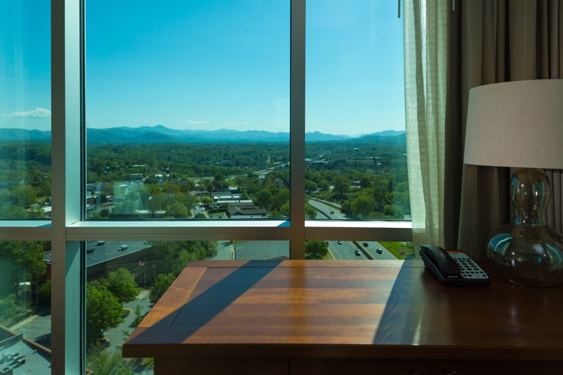 Traveling on business? How about a view while you work!