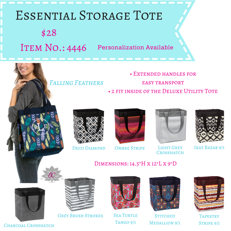 Essential Storage Tote Charcoal Crosshatch Tote Storage
