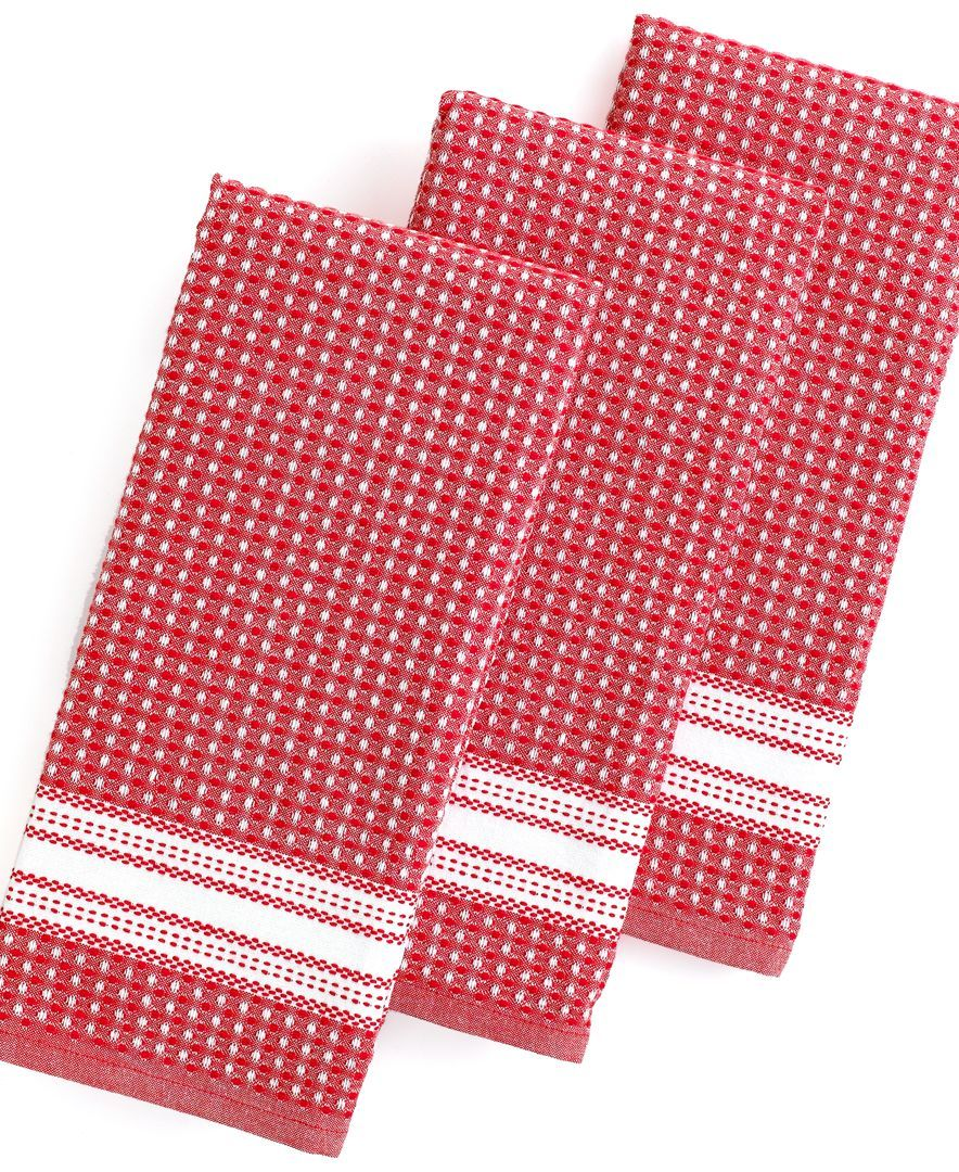 Martha Stewart Collection Kitchen Towels Set Of 3 Waffle Weave