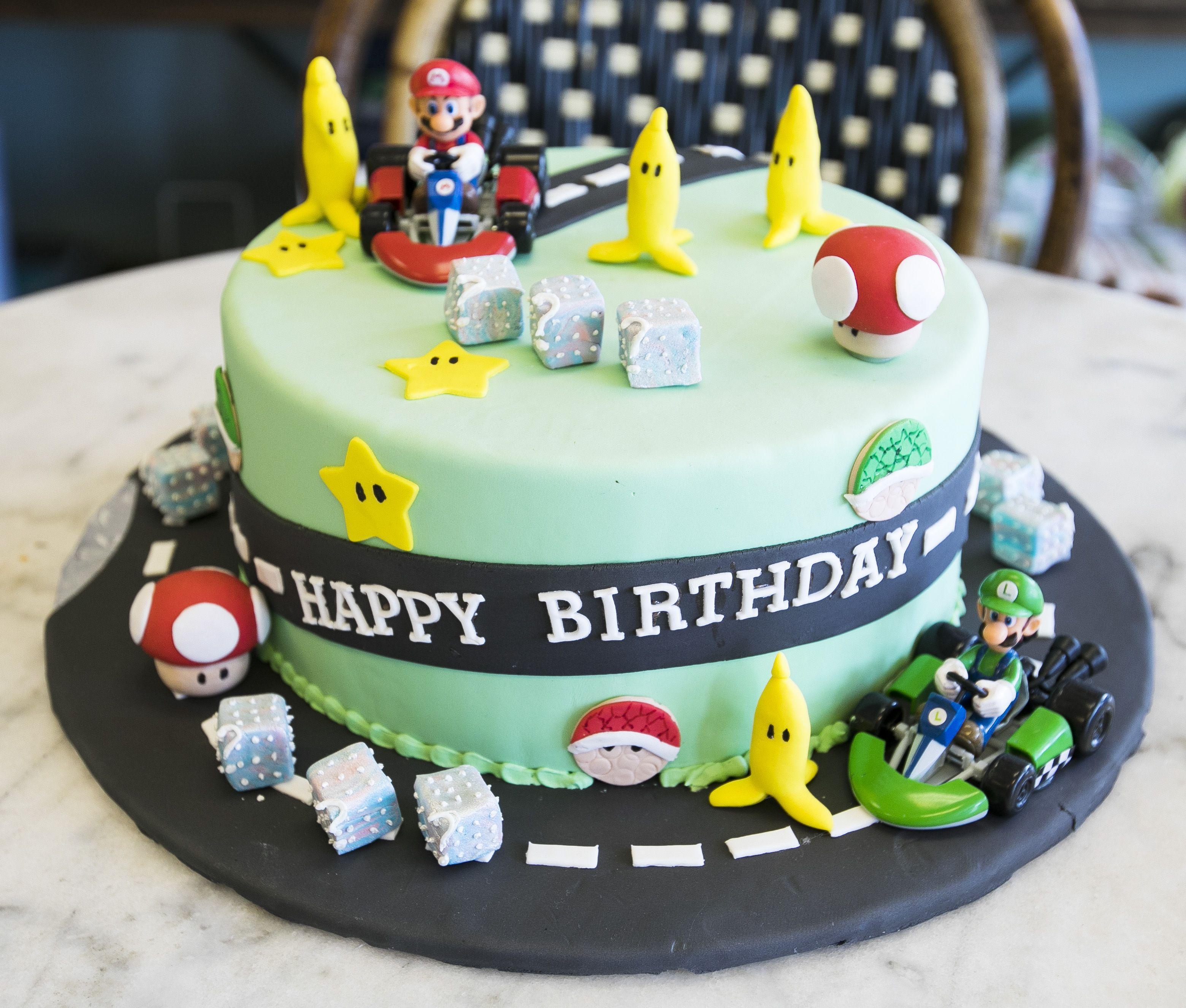 Mariokart Super Mario Brothers Cake Cake 224 Cake Birthday Cake Kids Kids Cake